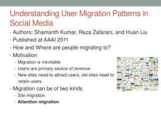 Understanding User Migration Patterns in Social Media