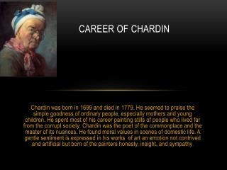Career of  chardin