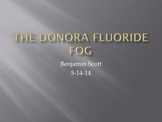 The Donora fluoride fog