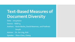 Text-Based Measures of Document Diversity