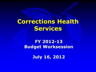 Corrections Health Services