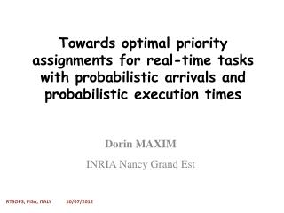 Dorin  MAXIM INRIA Nancy Grand  Est