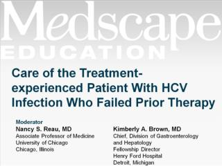 Care  of the  Treatment- experienced Patient With HCV Infection Who Failed Prior Therapy