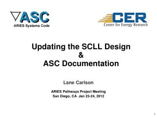 Updating the SCLL Design & ASC Documentation
