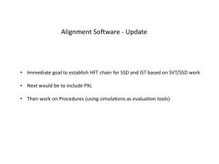 Alignment Software - Update