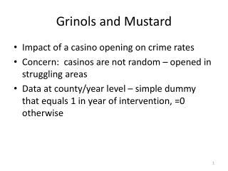 Grinols  and Mustard