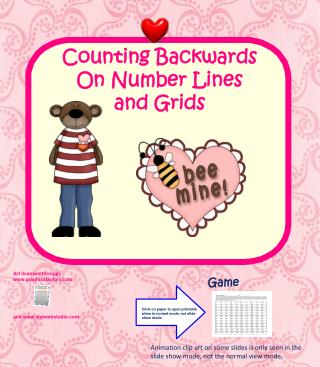 Counting Backwards On Number Lines  and Grids