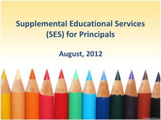 Supplemental Educational Services (SES) for Principals