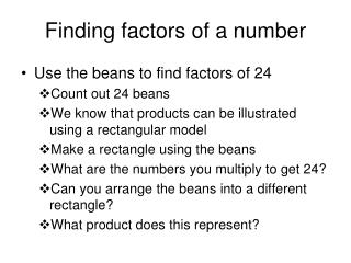 Finding factors of a number