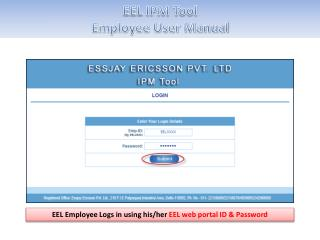 EEL IPM Tool Employee User Manual
