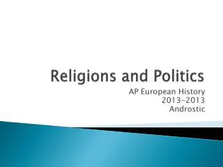 Religions and Politics