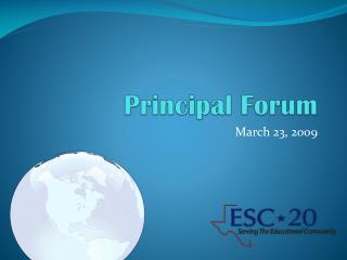 Principal Forum