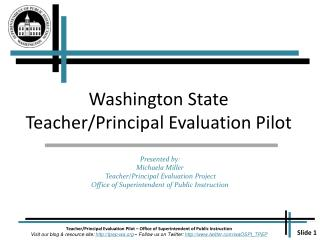 Washington State Teacher/Principal Evaluation Pilot