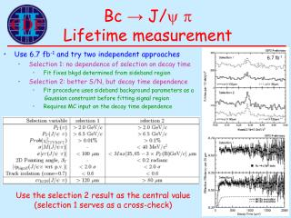 Bc → J/ y p Lifetime measurement