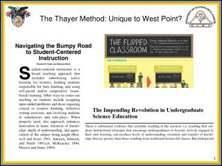 The Thayer Method: Unique to West Point?