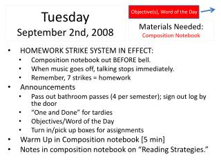 Tuesday September 2nd ,  2008