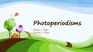 Photoperiodisms