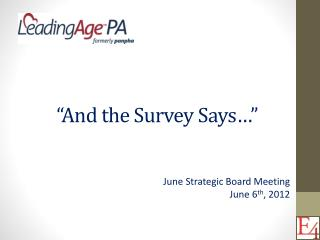 �And the Survey Says��