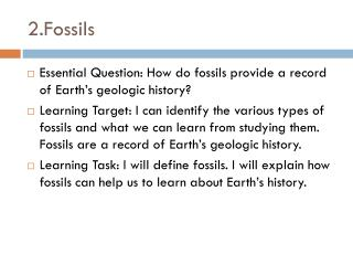 2.Fossils
