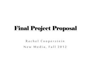 Final Project Proposal