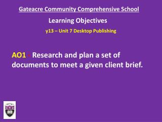 Gateacre Community Comprehensive School