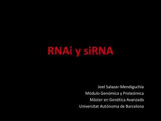 RNAi  y  siRNA