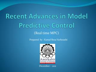 Recent Advances in Model Predictive Control
