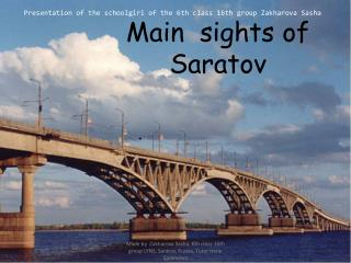 Main  sights of Saratov