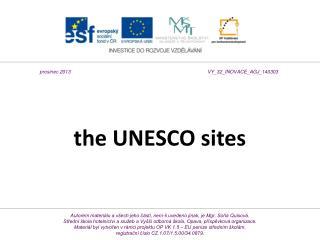 the UNESCO sites
