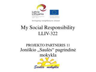 My Social Responsibility LLIV-322