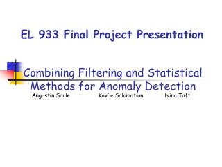 EL 933 Final Project Presentation