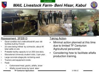 MAIL Livestock Farm- Beni Hisar, Kabul