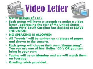 Video Letter