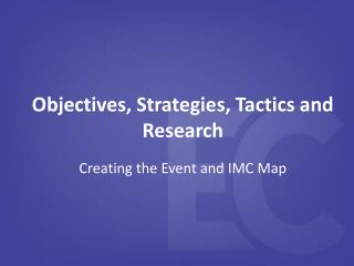 Objectives, Strategies, Tactics and Research