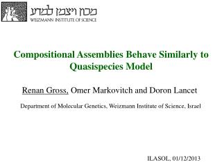 Compositional Assemblies Behave Similarly to Quasispecies Model