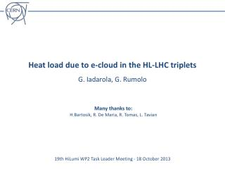 Heat load due  to e-cloud in the HL-LHC triplets
