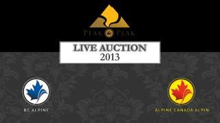 Live Auction