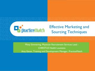 Effective Marketing and Sourcing Techniques