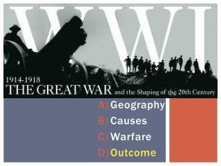 World War 1 1914 - 1918