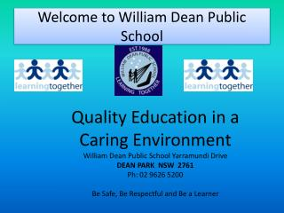 Welcome to William Dean Public School