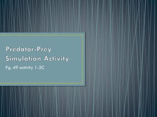 Predator-Prey Simulation Activity
