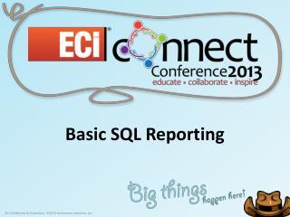 Basic SQL Reporting