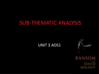 SUB-THEMATIC ANALYSIS