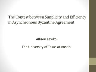 The Contest between Simplicity and Efficiency in Asynchronous Byzantine Agreement