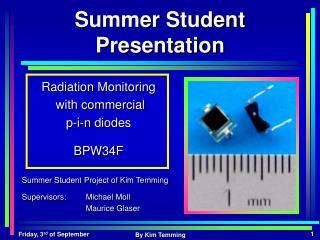 Summer Student Presentation
