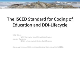 The ISCED Standard for Coding of Education and DDI-Lifecycle