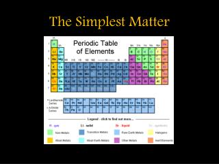 The Simplest Matter