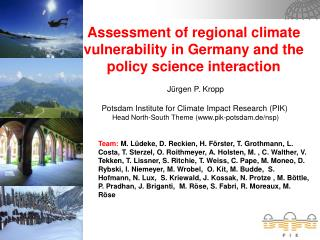 Assessment of regional climate vulnerability in Germany and the policy science interaction
