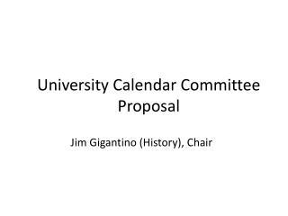 Jim Gigantino (History), Chair