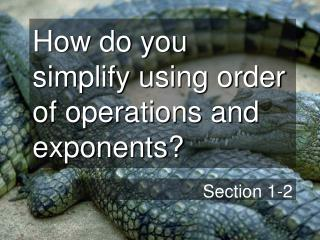 How do you simplify using order of operations and exponents?